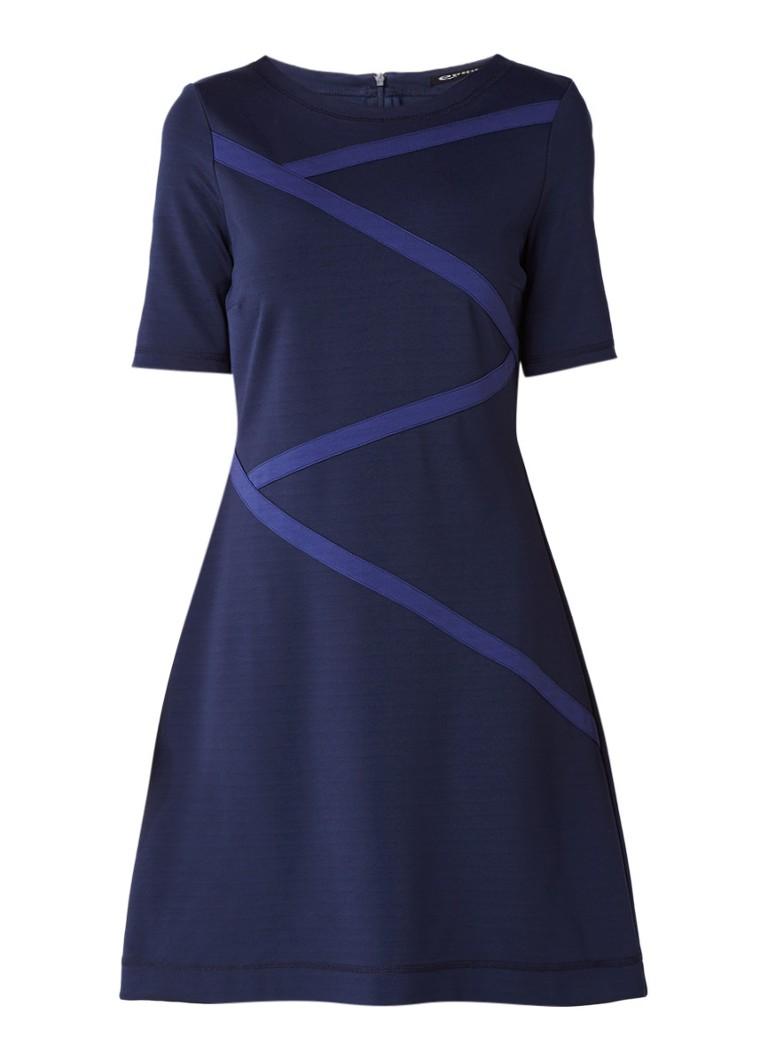 Expresso Celia tuniekjurk met streepdessin donkerblauw