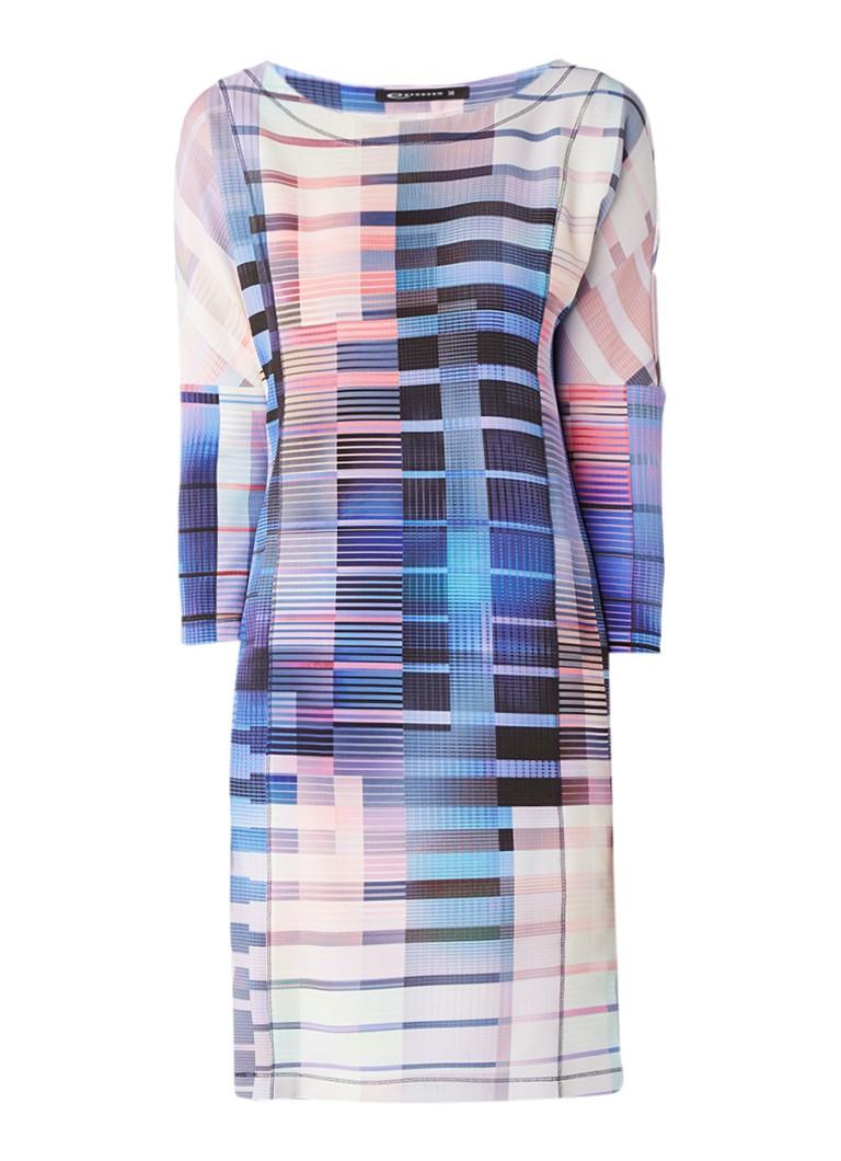 Expresso Colijn loose fit jurk met grafische print paars