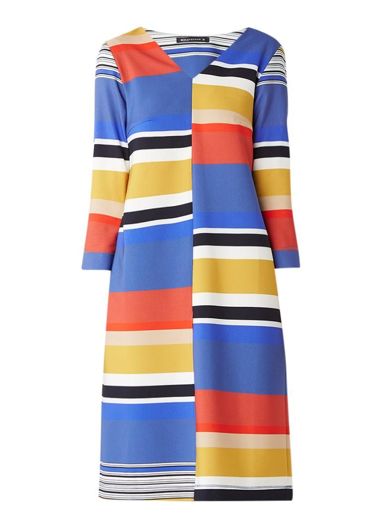 Expresso Delma tuniekjurk met streepdessin multicolor