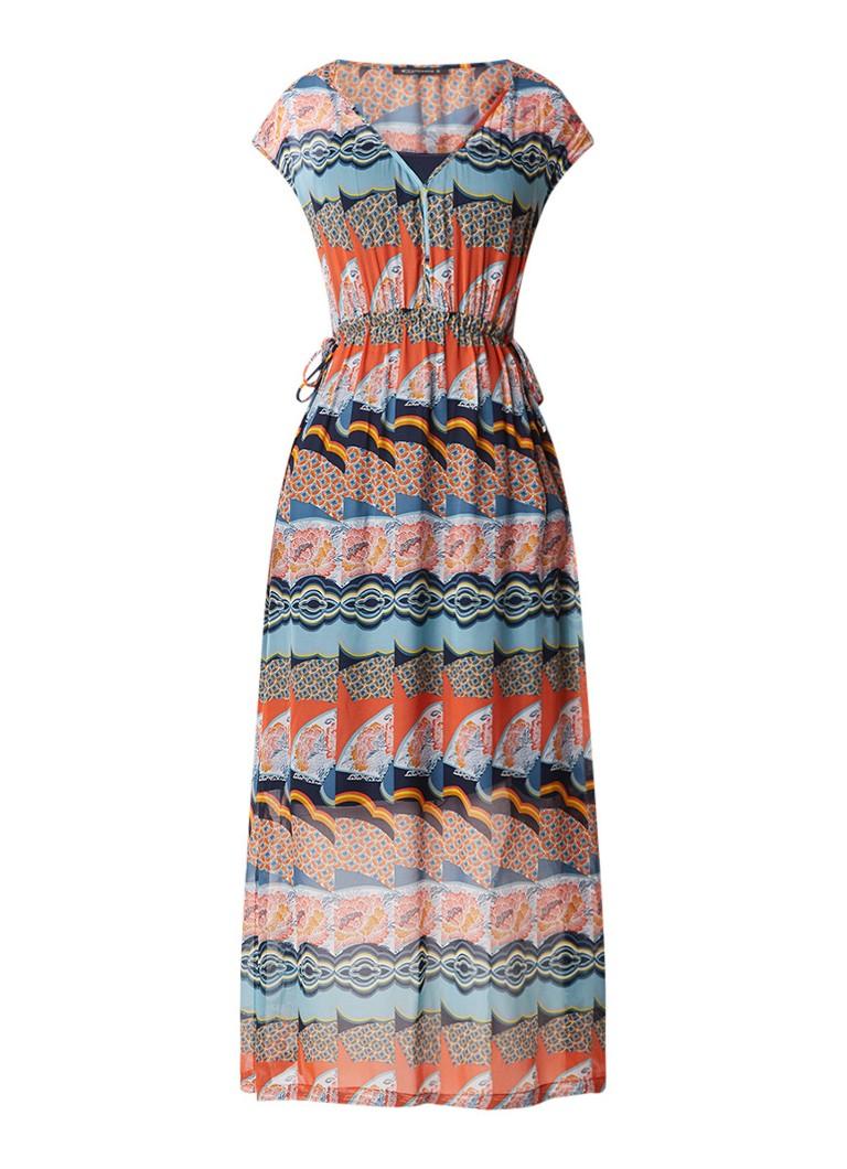 Expresso Franca losvallende A-lijn maxi jurk multicolor