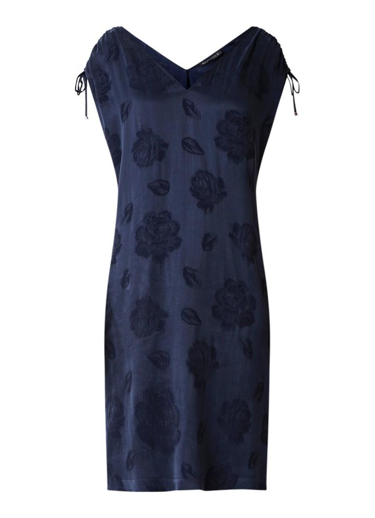 Expresso Fredda tuniekjurk met ingeweven bloemendessin donkerblauw