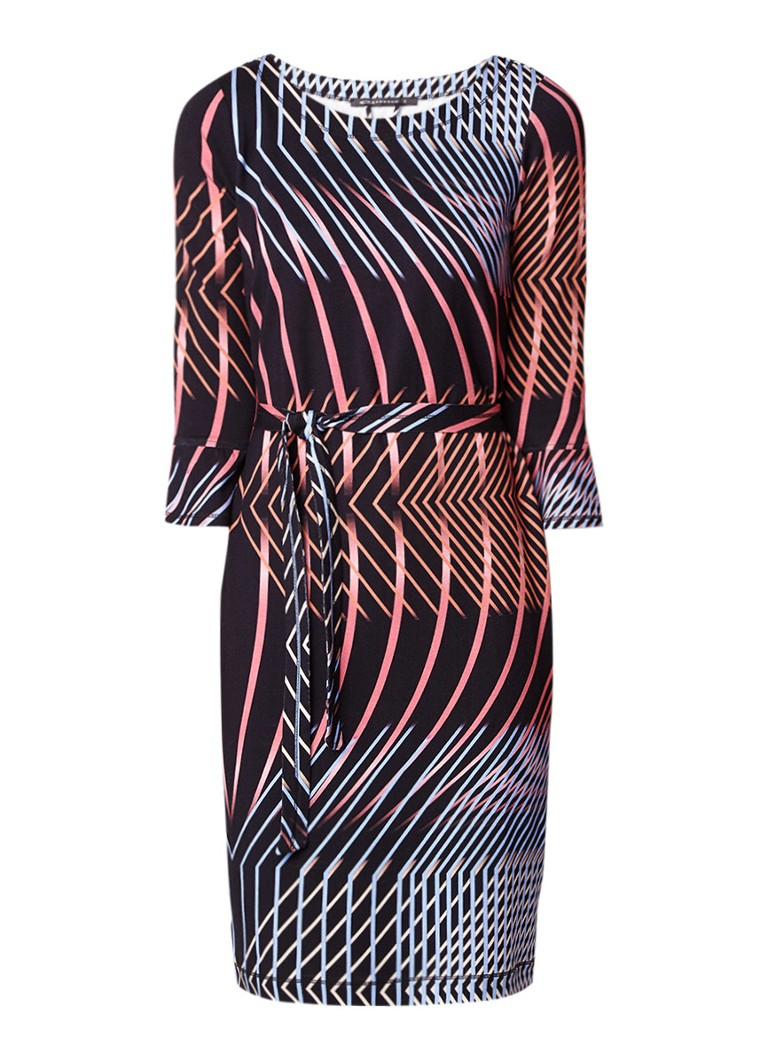 Expresso Song jurk van jersey met grafische print zwart