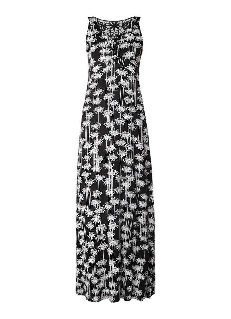 Expresso Ryder maxi-jurk met dessin en broderie zwart