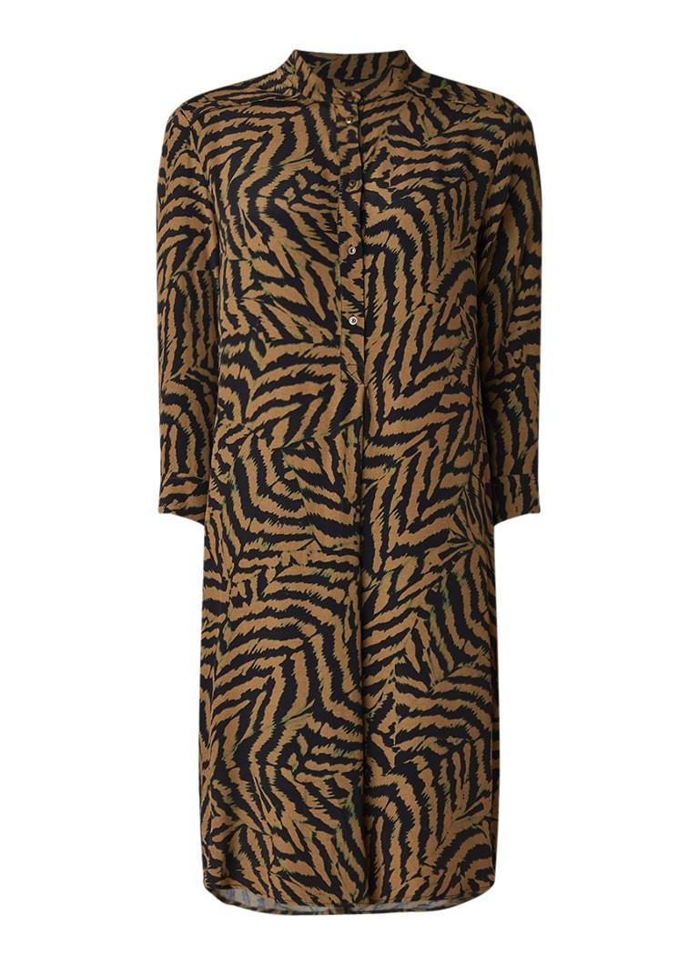 Expresso Blanche tuniekjurk met tijgerdessin khaki
