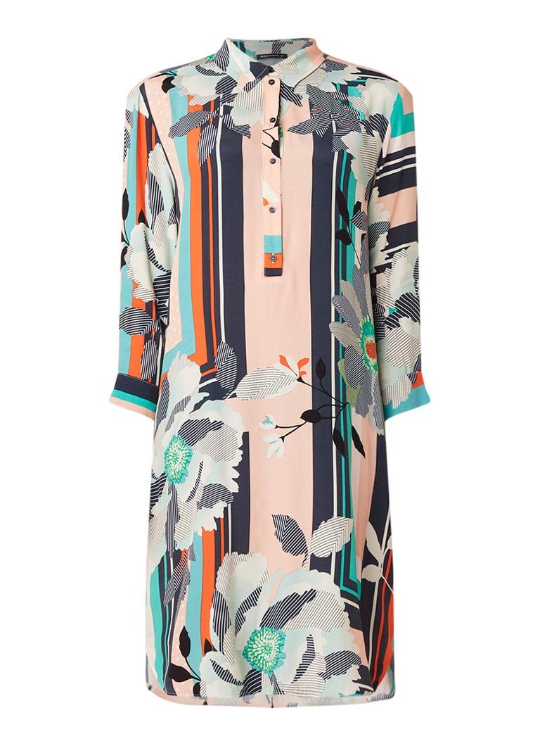 Expresso Denver blousejurk met bloemendessin multicolor