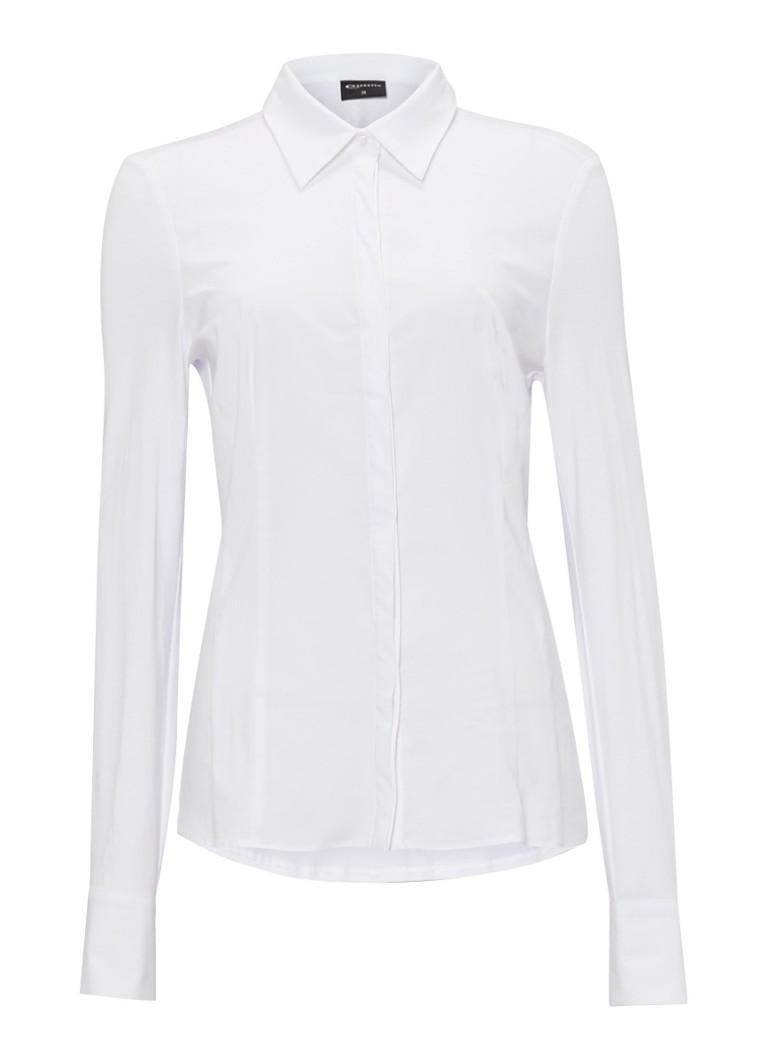 Expresso Xani blouse met jersey mouwen zwart