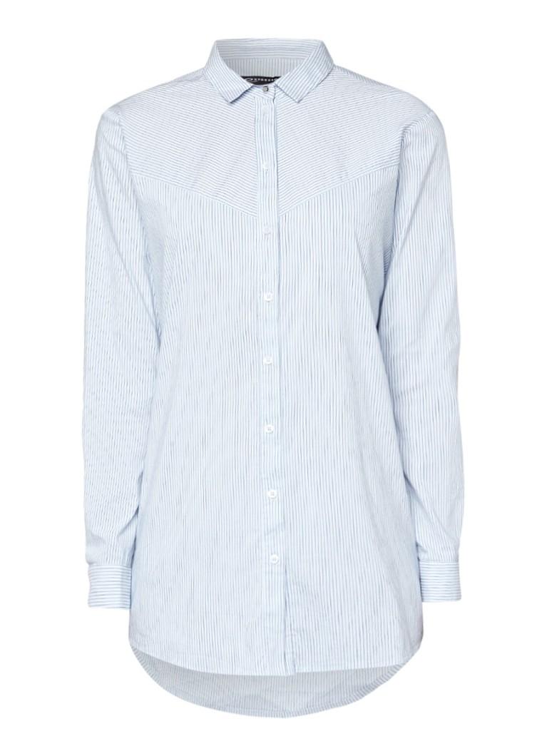 Expresso Ava blouse met streepdessin zwart