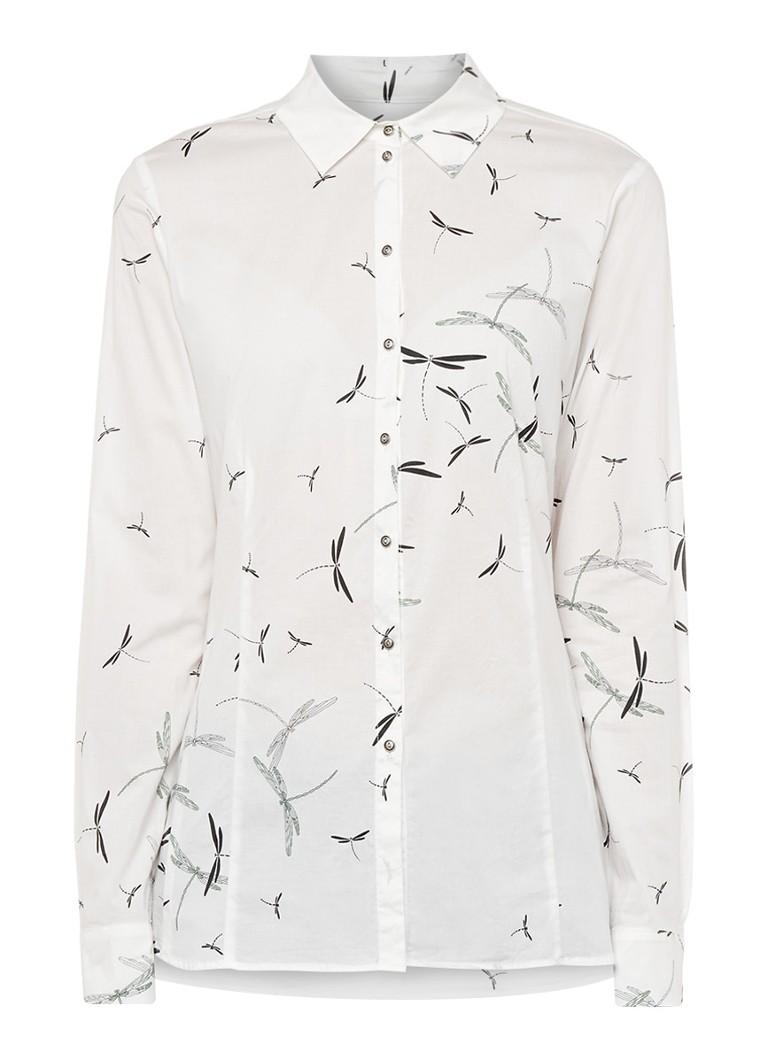 Expresso Cora blouse met print zwart