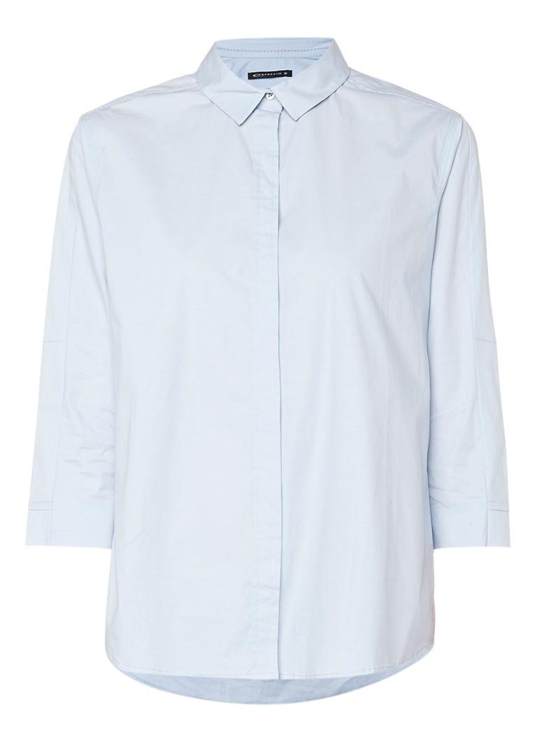 Expresso Debby poppin blouse van katoen zwart