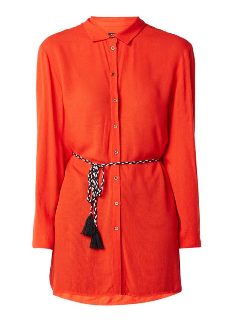 Expresso Diana blousejurk met ceintuur rood