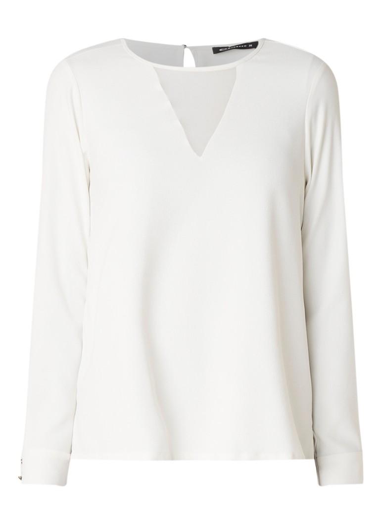 Expresso Anouk blousetop met inzet van chiffon