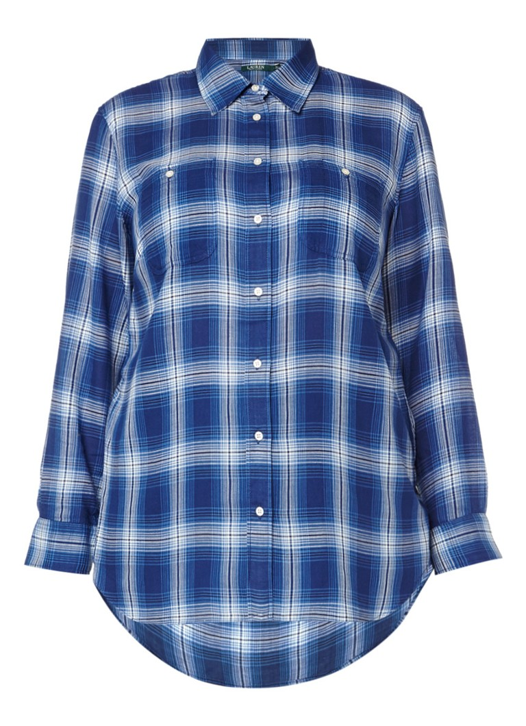 Ralph Lauren Alishia blouse met ruitdessin