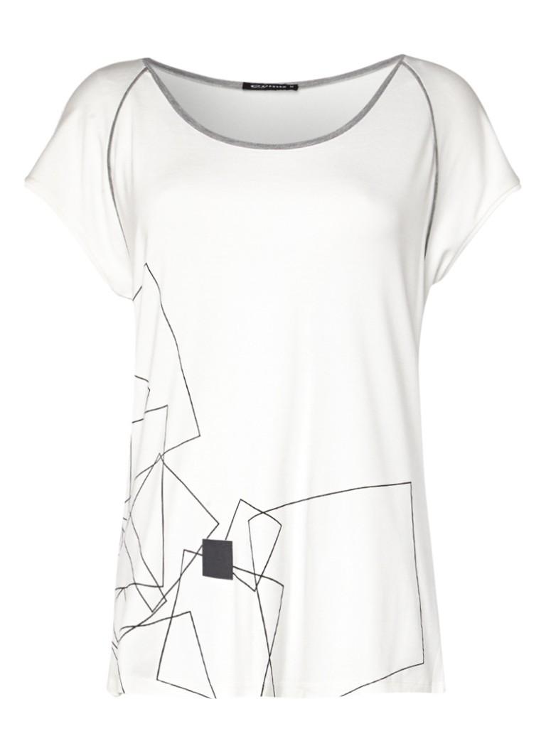 Expresso Delice T-shirt met print zwart