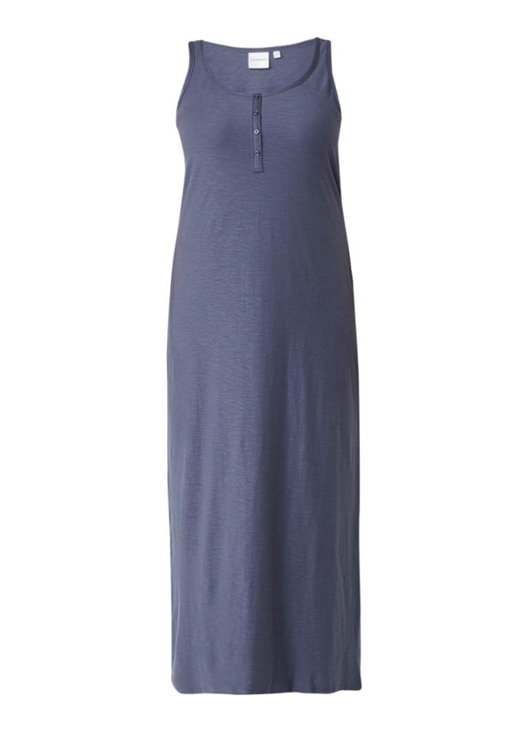 Junarose Maximar maxi-jurk van biologisch katoen donkerblauw