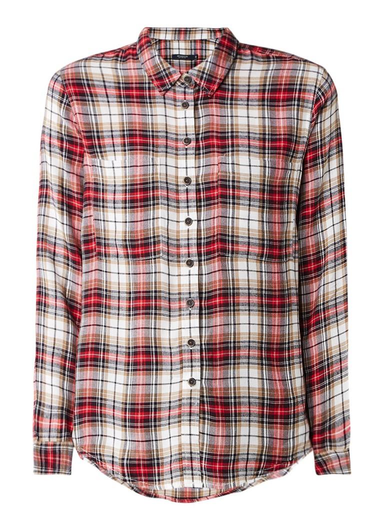 McGregor Collins blouse van katoen met ruitdessin