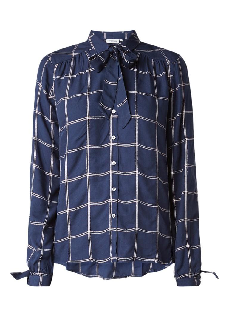 McGregor Santinder blouse met ruitdessin en lurex