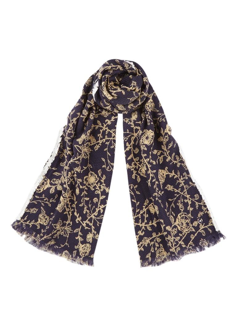 McGregor Sjaal in wolblend met bloemendessin 200 x 60 cm