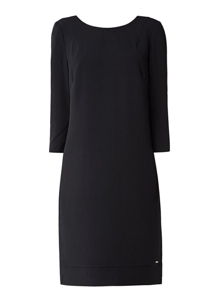 McGregor Colorado shift jurk met driekwartsmouw zwart