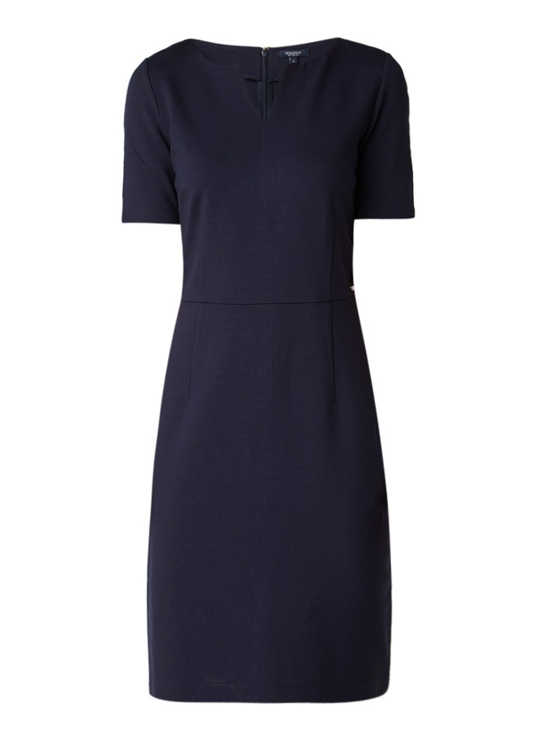 McGregor Gabrielle jersey jurk met V-uitsnede donkerblauw