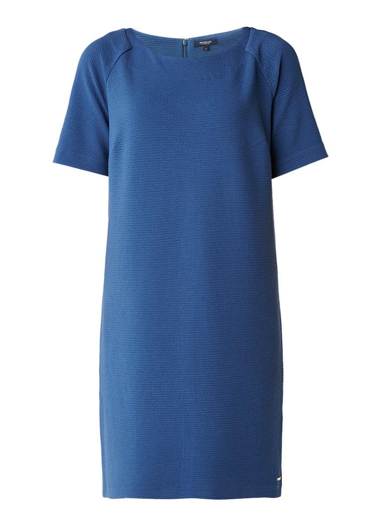 McGregor Amadine shift jurk met ingeweven structuur staalblauw