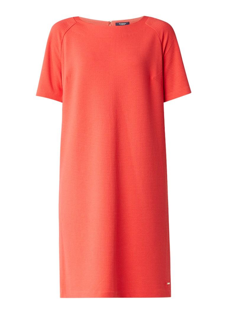 McGregor Amadine shift jurk met ingeweven structuur rood