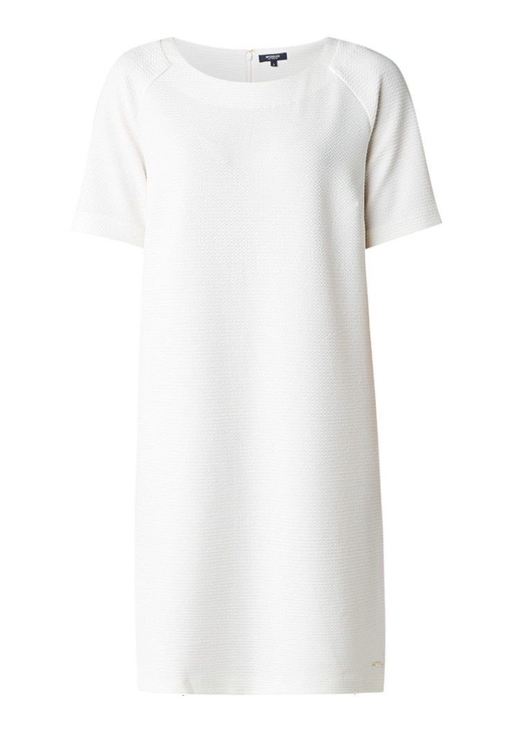 McGregor Amadine shift jurk met ingeweven structuur gebroken wit