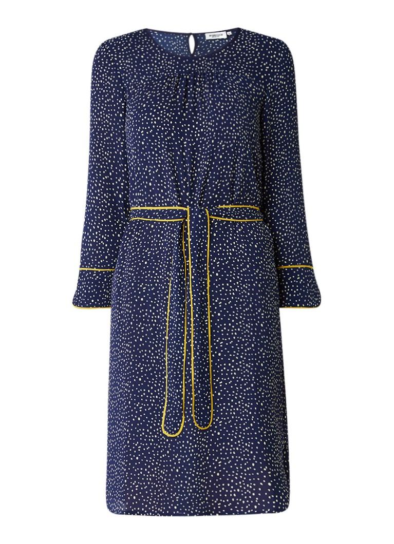 McGregor Vallarie midi-jurk met gestipt dessin donkerblauw