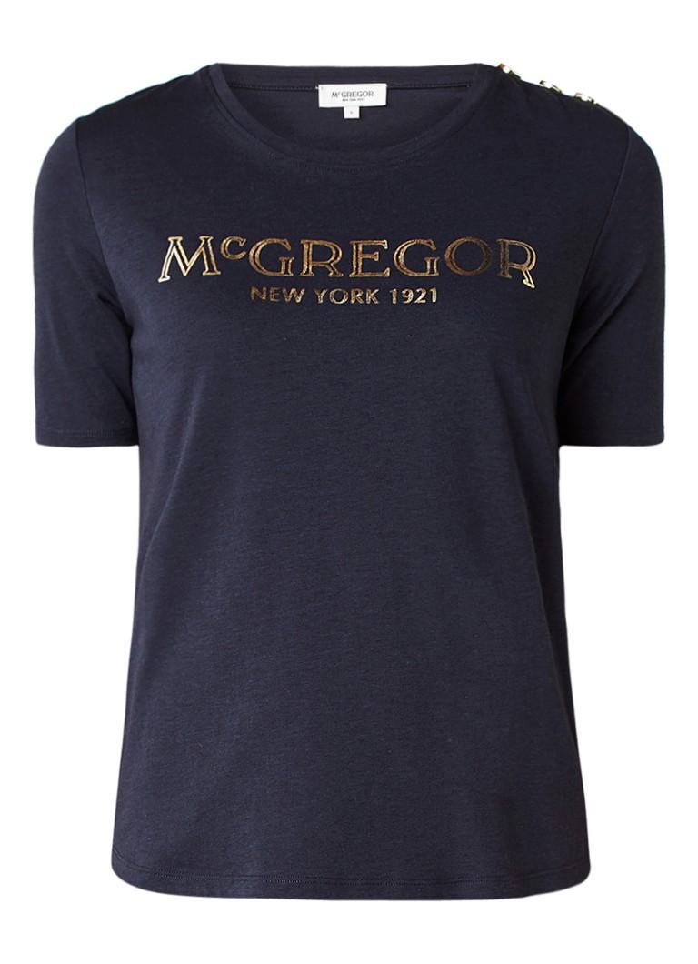 McGregor Parlor T-shirt met metallic logoprint