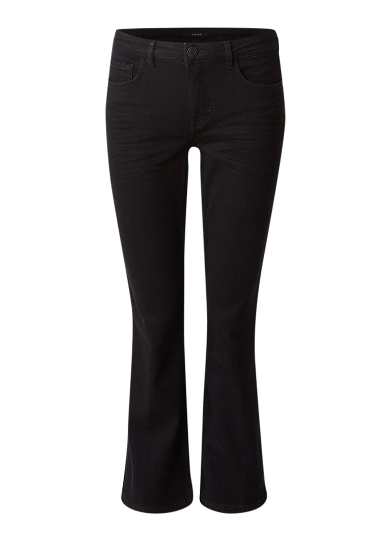 Opus Maggie high rise kick flare jeans met stretch