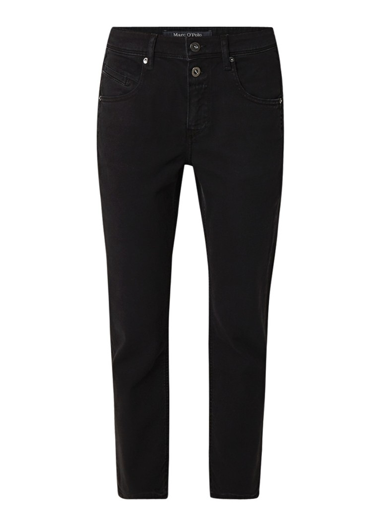 Marc O'Polo Theda mid rise cropped boyfriend fit jeans met stretch