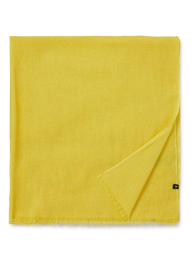 Image of Marc O'Polo Sjaal van katoen met franjes 180 x 85 cm