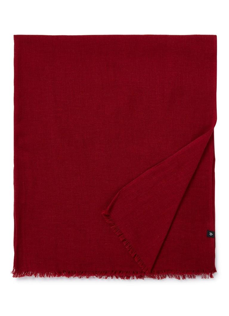 Image of Marc O'Polo Sjaal van katoen met franjes 180 - 85 cm
