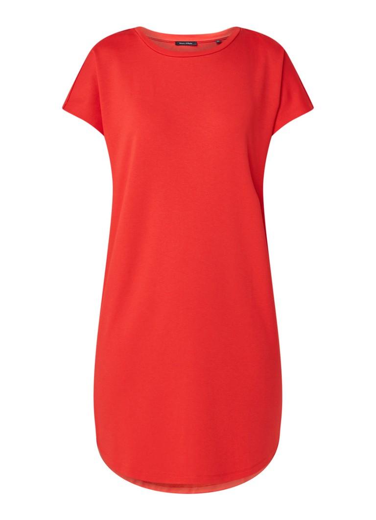 Marc O'Polo Oversized T-shirt jurk van jersey rood