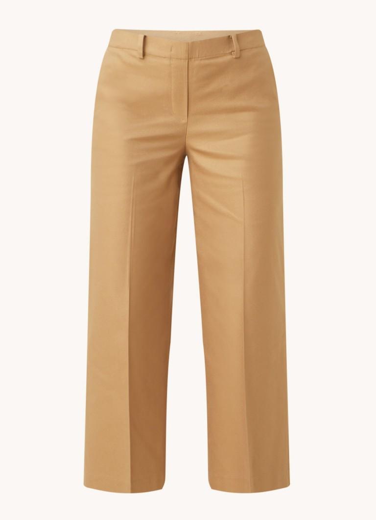 Fansi mid waist straight fit cropped pantalon