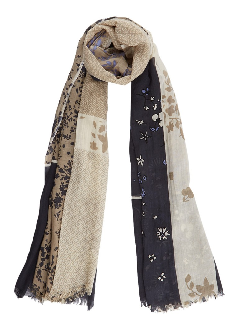 Marc O'Polo Sjaal met bloemendessin 185 x 95 cm