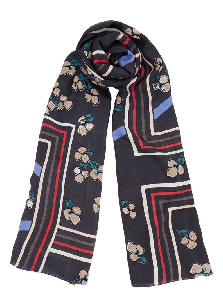 Marc O'Polo Sjaal met dessin 185 x 100 cm