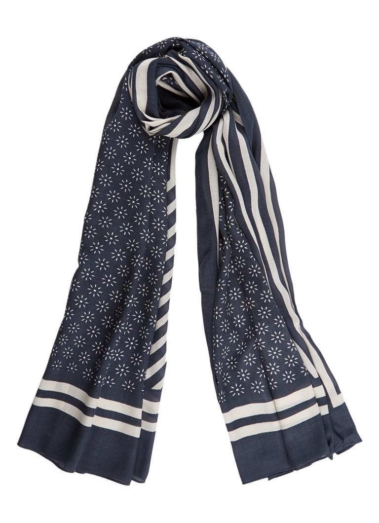 Marc O'Polo Sjaal met dessin 185 x 110 cm