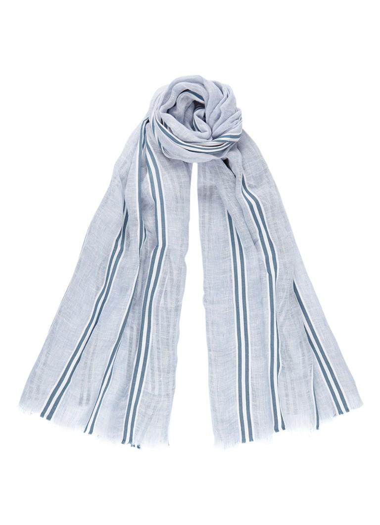 Marc O'Polo Sjaal in in linnenblend 200 x 70 cm