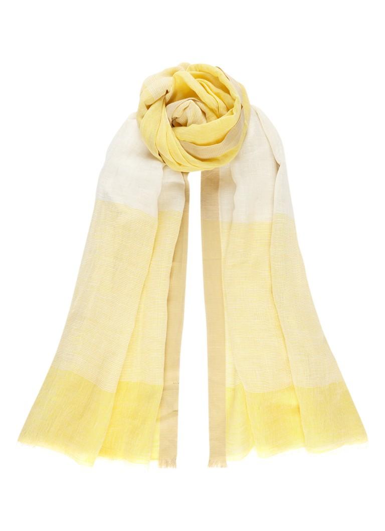 Marc O'Polo Sjaal in linnenblend 200 x 75 cm
