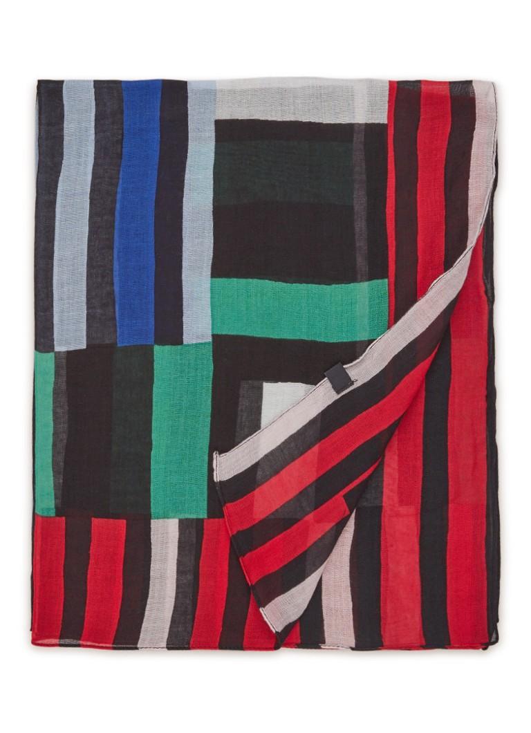 Marc O'Polo Sjaal met streepdessin 110 x 110 cm