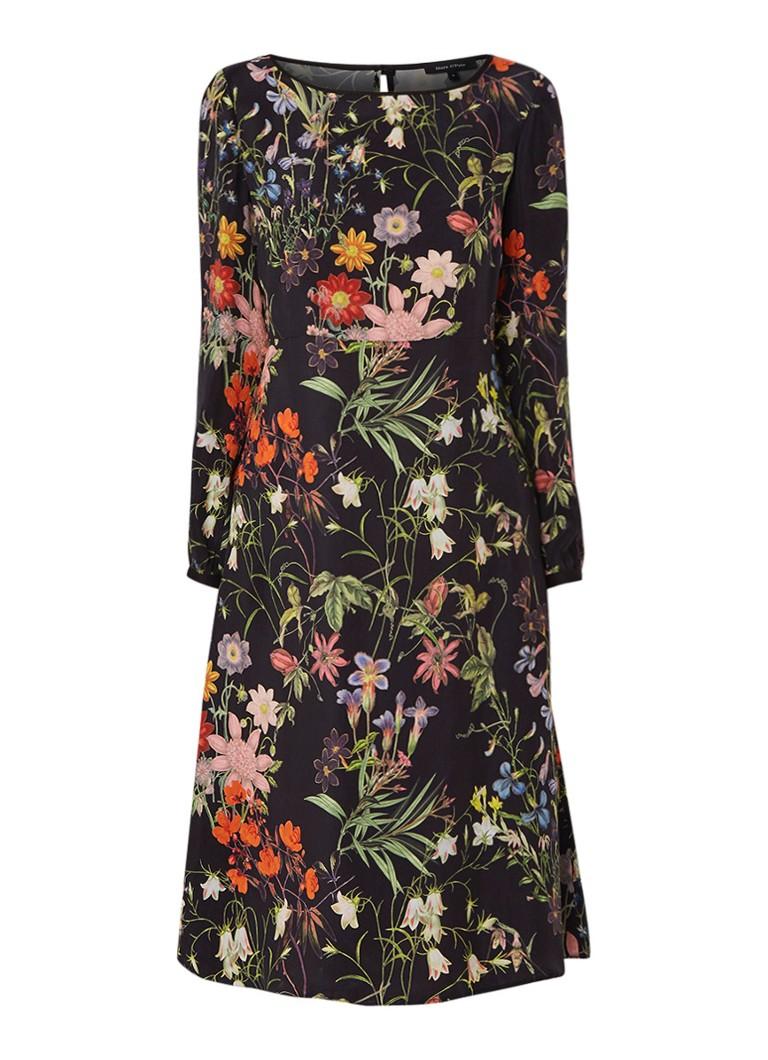 Marc O'Polo A-lijn jurk met bloemendessin zwart