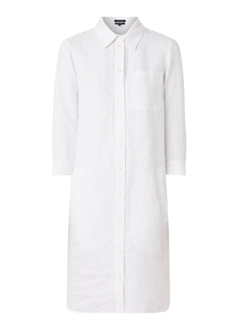 Marc O'Polo Tuniekjurk van linnen met borstzak wit