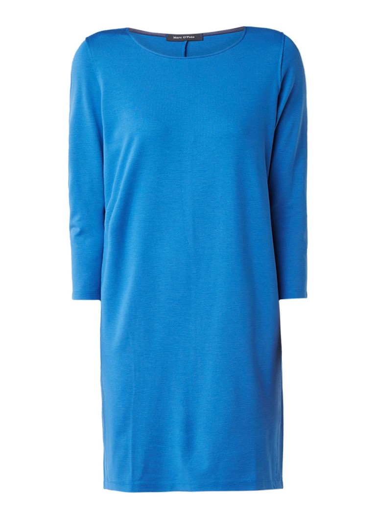 Marc O'Polo Jurk van jersey met driekwartsmouw blauw
