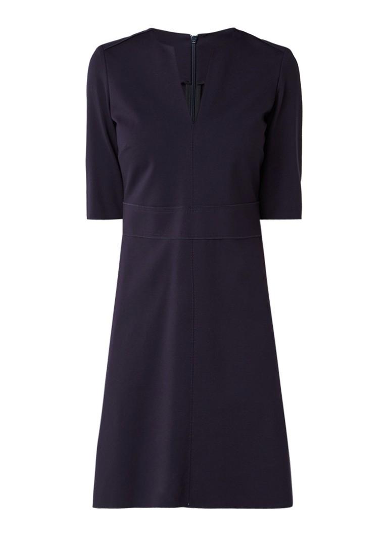 Marc O'Polo A-lijn jurk met deelnaad donkerblauw