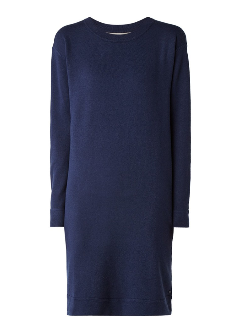 Marc O'Polo Loose fit sweaterjurk donkerblauw