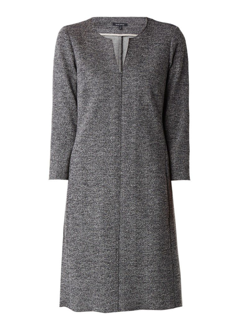 Marc O'Polo Midi-jurk van tweed met driekwartsmouw middengrijs