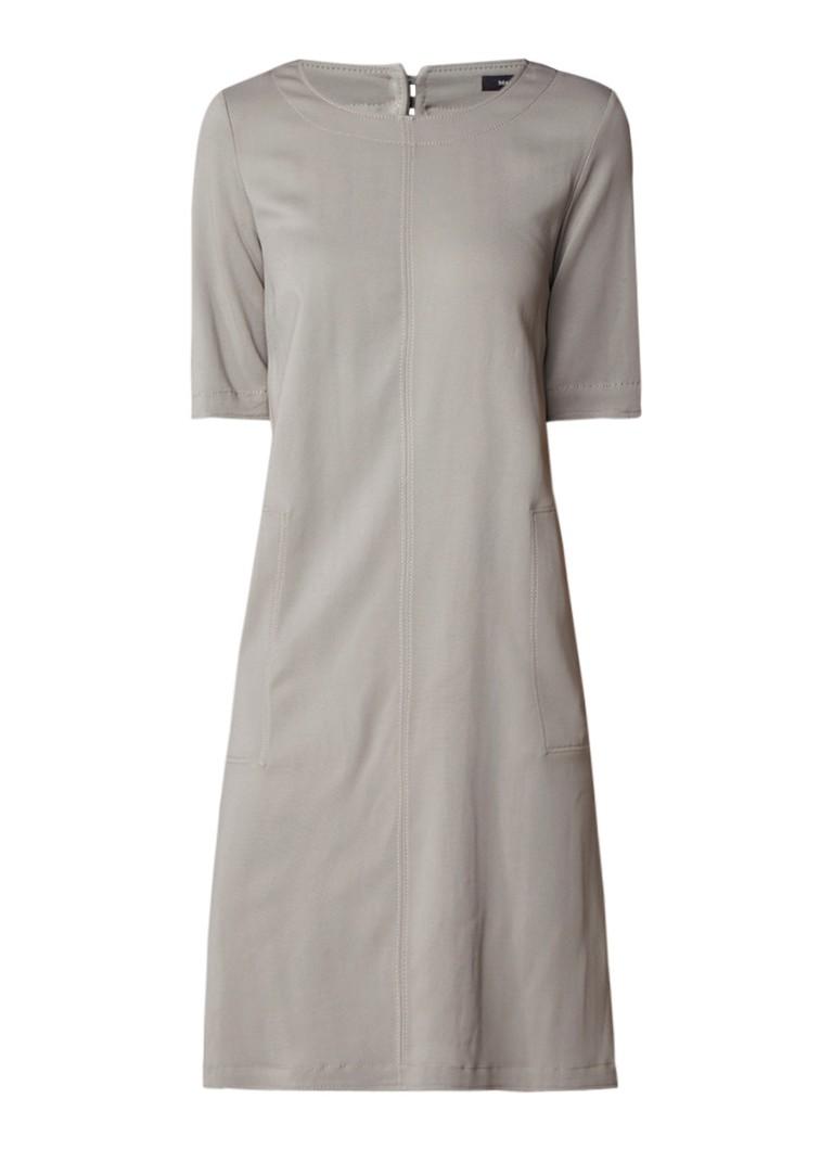 Marc O'Polo Loose fit midi-jurk met halflange mouw legergroen