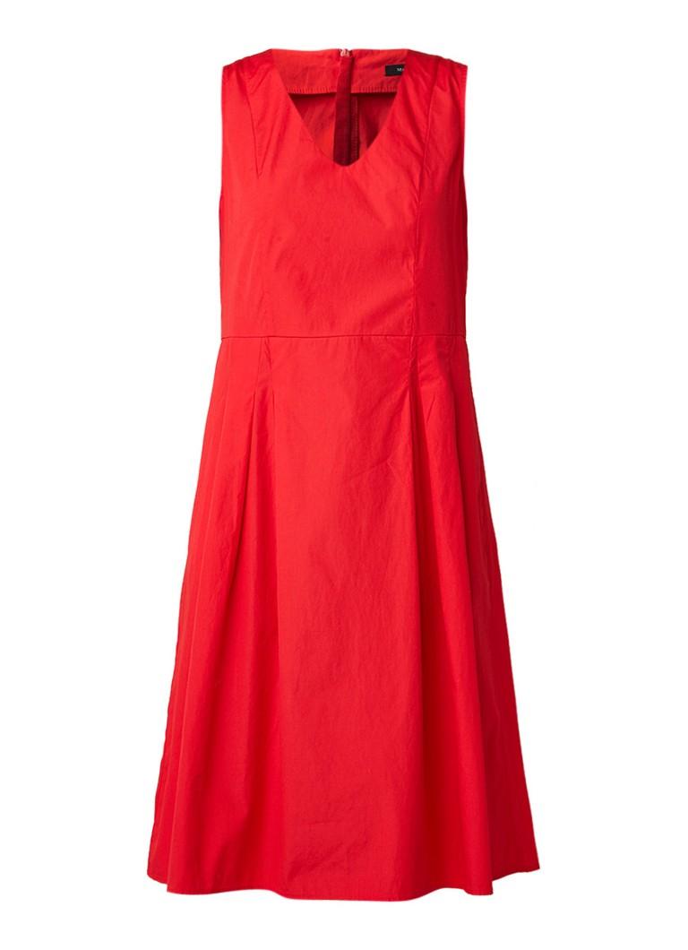 Marc O'Polo A-lijn mouwloze midi-jurk van katoen rood