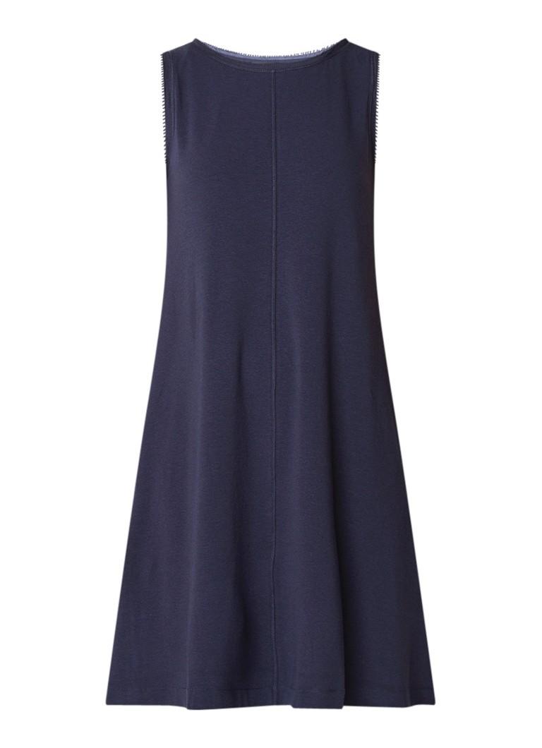 Marc O'Polo Mouwloze midi-jurk van jersey donkerblauw
