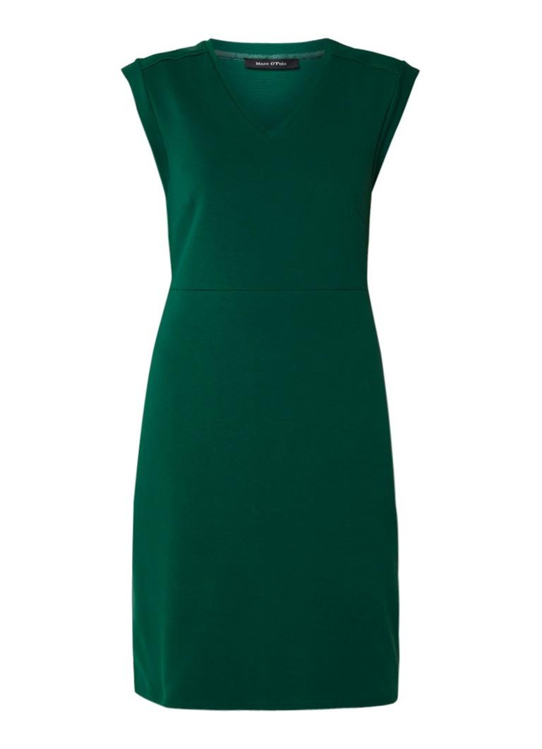 Marc O'Polo Midi-jurk van jersey met deelnaad groen